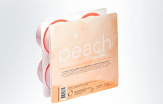 natural look peach parafin wax 1 kg