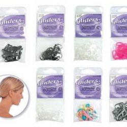 gliders snag free elastics 30pc 4mm black