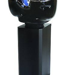 basin pedestal only black