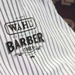wahl light barbers cape white