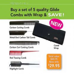 glide comb wrap kit – 5 combs