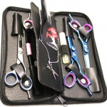 scissor kit blue left handed 3 pairs  plus razor